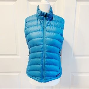 Patagonia Women's Blue Zip Puffer Vest Size S